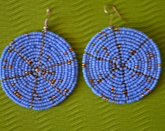 African Maasai Beaded Earrings | Blue Earrings|Drop & Dangle Earrings |Tribal Earrings |Gift For Her | Elegant Earrings