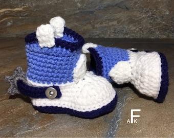 Crochet Pattern- Baby Cowboy Boots / Baby Cowboy Boots/ Baby Cowboy Boots Crochet/ Cowboy Boots Crochet Pattern/ Infant Cowboy Boots Pattern