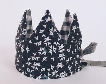 Kroontje met sterren - kinder kroon - verjaardagsmuts - verjaardag - verjaardagskroon - kroon in katoen - kroon speelgoed