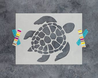 Turtle Stencil - Reusable DIY Craft Stencils of a Turtle