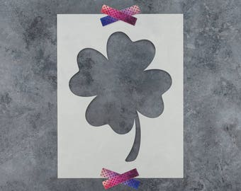 Four Leaf Clover Stencil - Reusable DIY Craft Stencils of a Four Leaf Clover