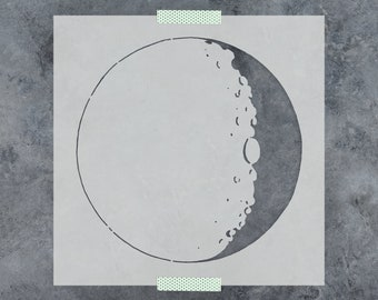 Moon Stencil - Reusable DIY Craft Stencils of the Moon
