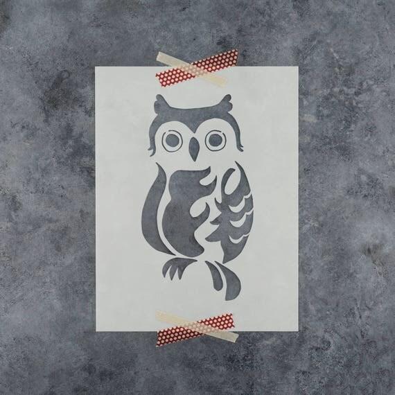 Owl Stencil Reusable Craft Stencil Of An Owl