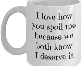 Husband Coffee Mug - Boyfriend Mug - Wife Mug - Valentines Day Gifts - Birthday Gift for Him Her Husband Wife Girlfriend - Funny Office Mug