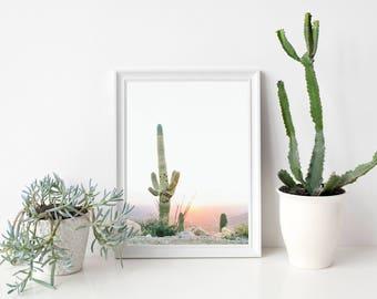 Cactus Wall Art Saguaro Print Botanical Print Desert Home Decor Succulent Art