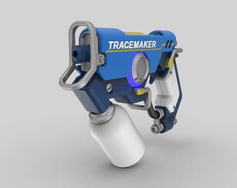 Tracer Gun Graffiti Skin - Cosplay - Overwatch - 3d printed acrilic painted varnished