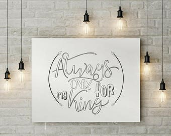 Always, Only Printable /Scripture/Coloring/Digital Download