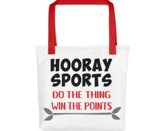 Hooray Sports Bag - Sports Bag - Sports Tote - Hooray Sports Do Thing Win Points Tote - Funny Tote Bag - Funny Sports Bag - Basketball Bag