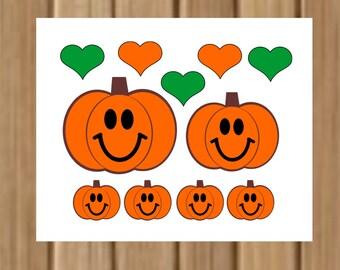 Pumpkin Family CUTTING file, SVG file, Pumpkins, Halloween, Fall, Cricut Cutting File, SVG