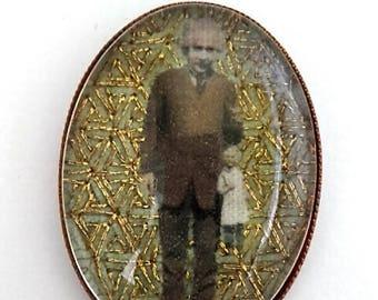 Albert Einstein hand embroidered brooch