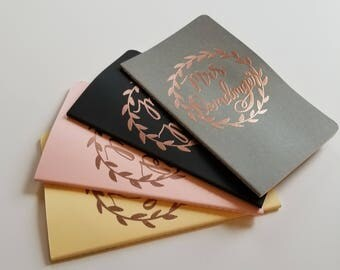 Custom Embossed Moleskine Cahier Journal - Large Size, Various Colors