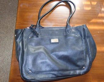 Vintage Nine West Black Faux Leather Purse