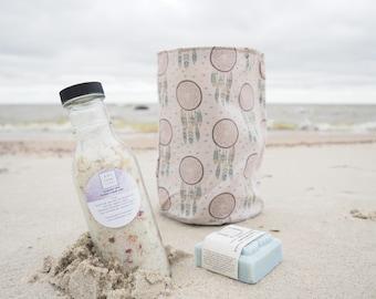 Botanical Bath Salts, 14 oz bottle, easy pour, relaxing and rejuvenating, organic flowers, essential oils