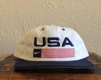 Vintage Nike USA Snapback Hat