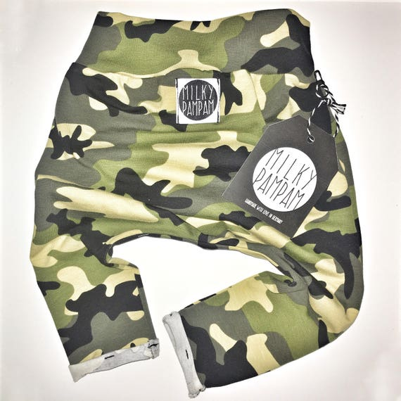 Baby/children harem pants camouflage military