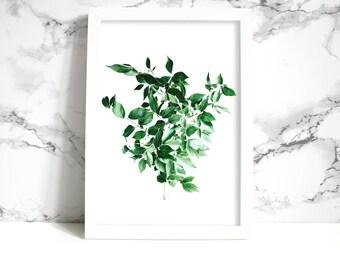 Plant Leaf Wall Art| Printable Art| Wall Art Print| Printable Wall Art| Plant Leaf Art| Dorm Wall Art| Wall Decor| Dorm Decor| Home Decor