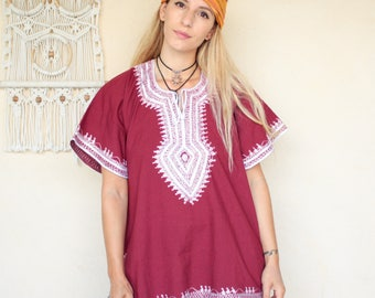 Vintage Indian Embroidered Tunic Top