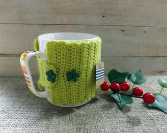 MUG COZY Crocheted Coffee Mug Cozy Coffee Cup Cozy Mug Warmer Cup  Mug Holder Knit Cozy Mug Hug Crochet Coffee Cup Holder Tea accessory