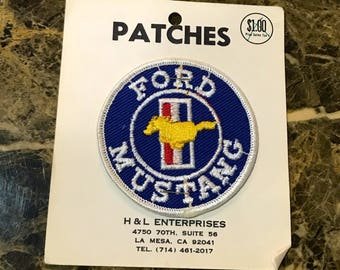 Vintage Ford Mustang Patch - Ford Motors Patch