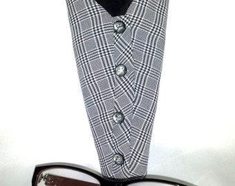 Houndstooth Print Eyeglasses Case