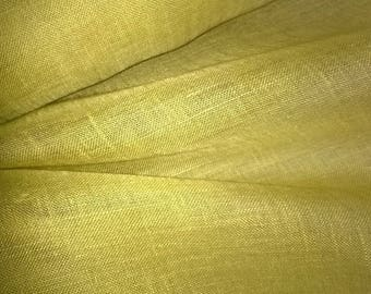 VEIL width 150cm saffron curry yellow mustard color linen