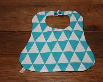 Fabric reversible bib and absorbent microfiber and pacifier