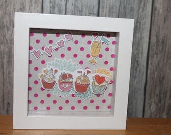Fiesta cup cake - decorative embossed frame