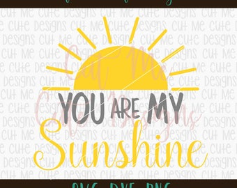 SVG DXF PNG cut file cricut silhouette cameo scrap booking You Are My Sunshine