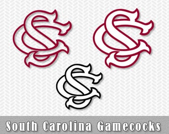 South Carolina Gamecocks Layered SVG Dxf Logo Vector File Silhouette Studio Cameo Cricut Design Template Stencil Vinyl Decal Tshirt Craft