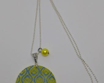 Lemon yellow summer colors necklace