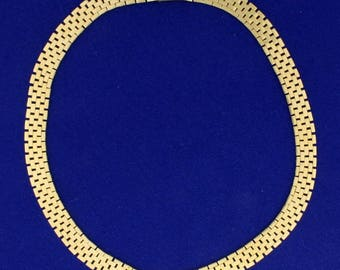 15 1/4 Inch Oyster Link Neck Chain in 14k Gold