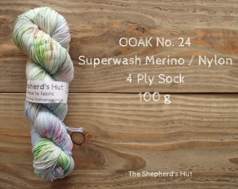 Superwash Merino/Nylon 75/25 Sock yarn 100 g OOAK No. 24