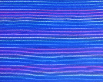 Mexican Fabric Blue and Stripes Cambaya Serape Ethnic Zarape Colorful Stripes By the Yard