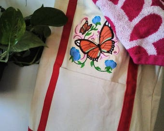 Canvas Butterfly tote