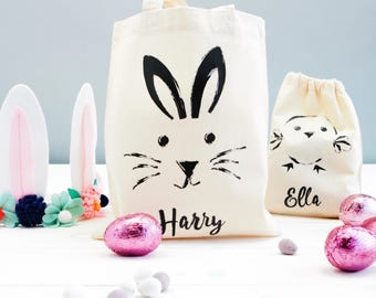 Easter gift idea etsy personalised easter gift bags monochrome party favours childrens party bags spring theme monochrome animal baby shower negle Choice Image