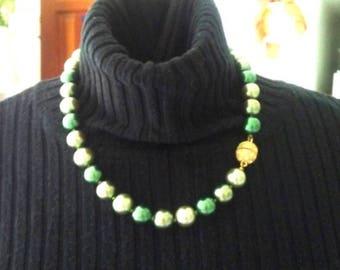 Deep Green Pearl Choker - Pearl Necklace