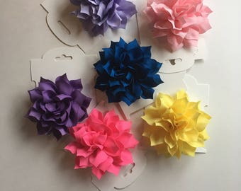 Small Fabric Flower Hair Cip