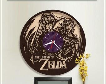 The Legend of Zelda Clock/Wooden Clock/HDF Plywood Clock *w138 Handmade Clock/Wooden Horloge/Wall Clock/Video Game Clock/Gamer Clock