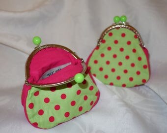 """Retro purse A GUSSET on the theme """"scattered flowers in my sky"""""""