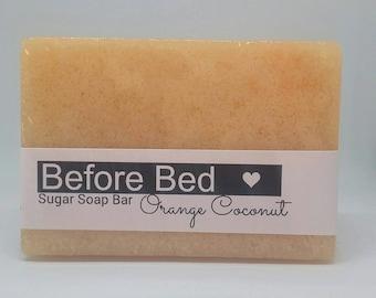 Orange Coconut Sugar Soap Bar (4oz) Made with Organic Coconut Oil