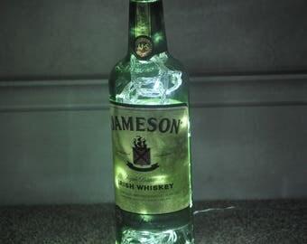 Recycled Jameson Irish Whiskey Bottle Lamp (Mains Operated)