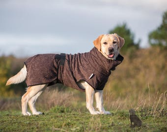 Dog Bathrobe brown - Made to Order - Doggy bathrobe