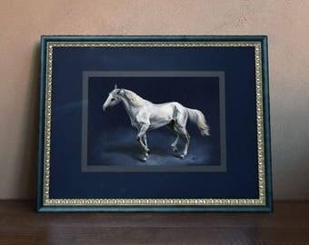 Horse Art ORIGINAL Horse Wall Art Equine Graphics Horse Painting Realistic Russian Horse Realistic Vintage Horse