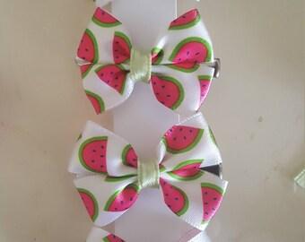 Watermelon bow clip