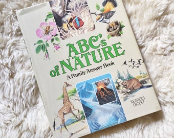 Vintage Kids Nature Reference Book // ABC's of Nature: A Family Answer Book