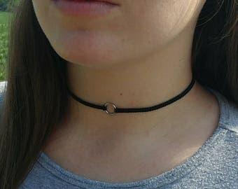 Black Boho Choker, Dainty Black Choker Necklace, Dainty Black Necklace, Boho Accesories, Small Women's Necklace, Women's Gift,
