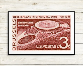 Universal and International Exhibition 1958, Brussels, US Pavilion, United States Pavilion, architecture gifts, architect gifts, US posters