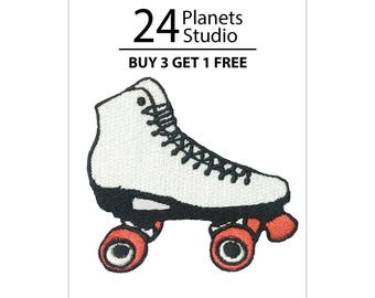 Roller Skate Iron on Patch by 24PlanetsStudio