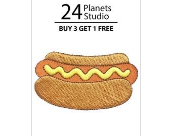 Hotdog Iron on Patch by 24PlanetsStudio