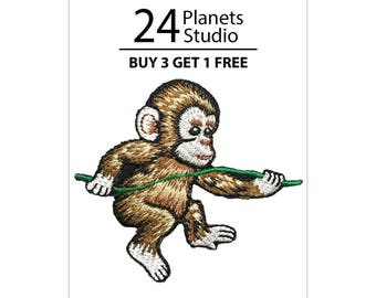 Little Monkey Iron on Patch by 24PlanetsStudio